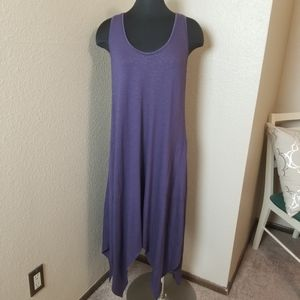 Soma Purple Asymmetric Sleeveless Dress
